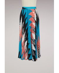 MSGM | Pleated Midweight Skirt | Lyst