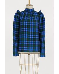 MSGM - Plaid Long-sleeved Top - Lyst