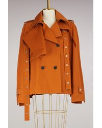 Proenza Schouler - Cotton Short Trench Coat - Lyst