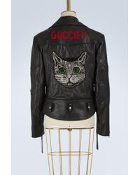 Gucci - Fy Leather Jacket - Lyst