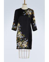 Erdem - Emma Long Sleeves Satin Dress - Lyst