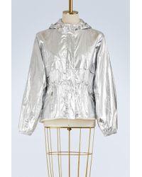 Moncler - Jais Silver Coated-cotton Jacket - Lyst
