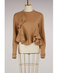 Givenchy - Wool Jersey Frills Sweater - Lyst