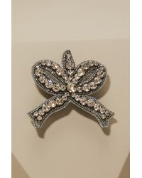 Gucci - Bow Brooch With Crystals - Lyst