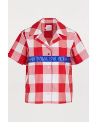 Stella Jean - Plaid Cotton Blouse - Lyst