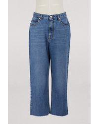 Alexander McQueen - High Waist Jeans - Lyst