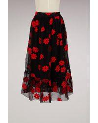 Simone Rocha   Printed Cotton Skirt   Lyst