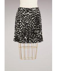 Marc Jacobs - Wavy Spot Crepe De Chine Short Pleated Skirt - Lyst