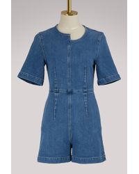 Stella McCartney - Greta Denim Jumpsuit - Lyst