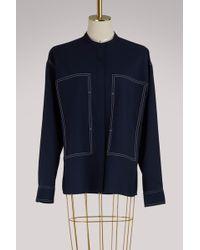 Ports 1961 - Long Sleeves Wool Shirt - Lyst