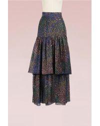Chloé - Fireworks Printed Cotton Long Skirt - Lyst