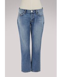 Current/Elliott - The Cropped Straight Jeans - Lyst