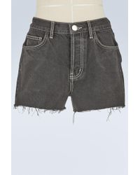 Current/Elliott - Ultra High-waisted Denim Shorts - Lyst