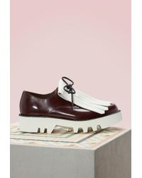 Sofie D'Hoore - Bicolor Brogues With Fringes - Lyst