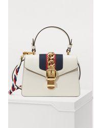 8d9c2270df1 Gucci - Sylvie Leather Mini Bag - Lyst