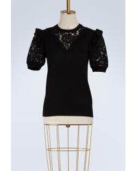Dolce & Gabbana - Lace And Wool Jumper - Lyst