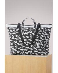 Miu Miu - Denim Shopper Bag - Lyst