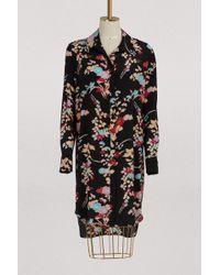 Diane von Furstenberg - Short Dress With Leaves - Lyst
