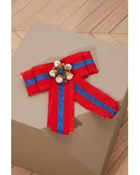 Gucci | Web Grosgrain Bow Brooch | Lyst