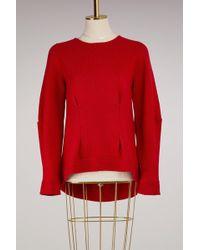 Alexander McQueen - Volume Round Neck Cashmere Sweater - Lyst