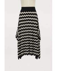 Stella McCartney - Wool Midi Skirt - Lyst