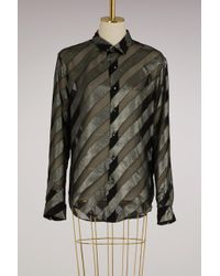 Off-White c/o Virgil Abloh - Diagonal Silk Shirt - Lyst