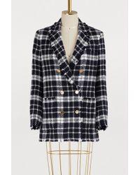 Thom Browne - Tartan Wool Jacket - Lyst