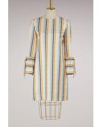 Victoria, Victoria Beckham - Tie Cuff Shift Dress - Lyst