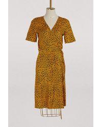 Diane von Furstenberg - Printed Flowers Short Dress - Lyst