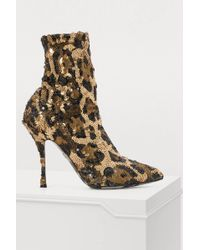 Dolce & Gabbana - Ankle Boots With Sequins - Lyst