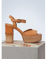 See By Chloé - Tina Sandals With Heels - Lyst