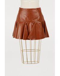 Chloé - Leather Mini Skirt - Lyst