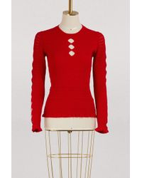 KENZO - Sweater With Ruffles - Lyst