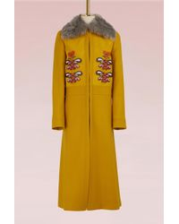 Anya Hindmarch - Wool Long Coat - Lyst