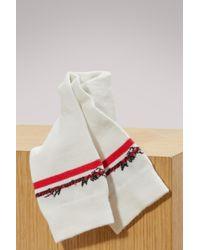 Maison Kitsuné - Cotton Striped Socks - Lyst