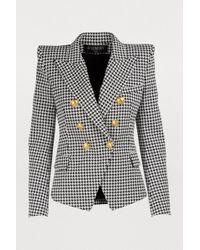 Balmain - Six-button Houndstooth Jacket - Lyst