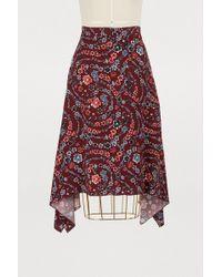 See By Chloé - Printed Midi Skirt - Lyst