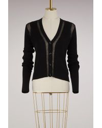 Maison Margiela - Sheer Detail Cardigan - Lyst