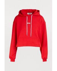MSGM - Cotton Sweatshirt - Lyst