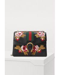 217ddcaf79d Gucci - Dionysus Embroidered Leather Shoulder Bag - Lyst