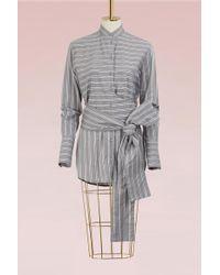 Victoria, Victoria Beckham - Tie Shirt - Lyst