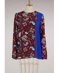 Diane von Furstenberg - Silk Side Slit Shell Shirt - Lyst