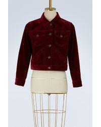 Marc Jacobs - Velvet Short Jacket - Lyst