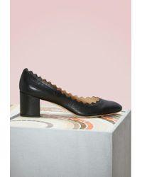 Chloé | Lauren Metallized Court Shoes | Lyst