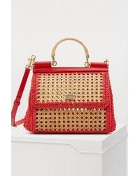 1402fe190fd3 Dolce   Gabbana - Sicily Raffia Shoulder Bag - Lyst