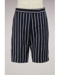 Thom Browne - Wool Stripe Shorts - Lyst