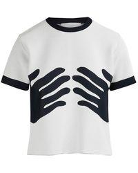 Rudi Gernreich - Short-sleeved Hands Top - Lyst