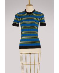 Courreges - Striped Knit Top - Lyst
