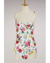 Dolce & Gabbana - Flowers Swimsuit - Lyst
