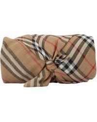 Burberry Schal aus Wolle und Seide - Natur